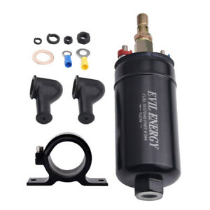 300lph External Inline Electric Fuel Pump For Ethanol With 60mm Mounting Bracket