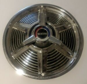 Pair 2 Of Ford Mustang Spinner Hubcaps Wheel Covers Center Caps Vintage