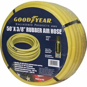 Goodyear Rubber Air Hose 3 8in X 50ft 300 Psi 46545