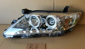 Ccfl Halo Headlights W Led Parking For 2010 2011 Toyota Camry