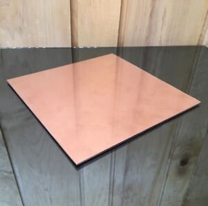 1 8 Copper Sheet Plate New 10 x10 125 Thick custom 1 8 Sizes Available