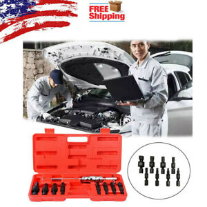 9pcs Blind Hole Pilot Internal Bearing Puller Bushing Remover Extractor Tools