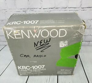 Vintage Oldschool Kenwood Krc 107 Cassette Reciever Radio 2knob Car Stereo New