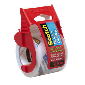 Scotch Packaging Tape 341 With Dispenser 2in X 800in Packing Mailing Tape Clear