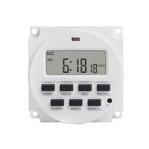 7 Day Heavy Duty Digital Programmable Timer Lcd Power Time Control Switch Sale