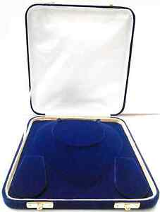 Deluxe Xl Large 8 Inch Jewelry Gift Box Plush Blue Velvet Necklace Presentation