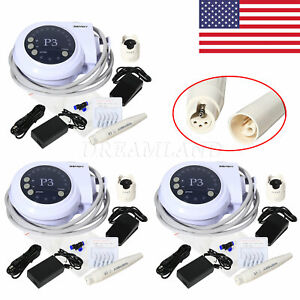3 Units Dental Ultrasonic Scaler Teeth Cleaner Compatible With Satelec