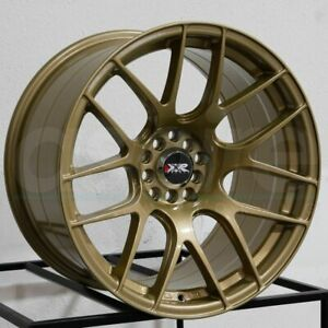 17x7 Xxr 530 5x100 5x114 3 35 Gold Wheels Rims Set 4