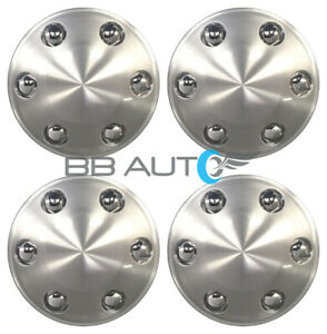 4 New Wheel Hub Center Caps Set Silver For 2004 2014 Ford F150 F 150 Truck
