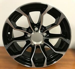 2 New 15 Inch Wheel 15x6 5 4 5 Trailer Aluminum Black Machined Psz1024 5 Lug