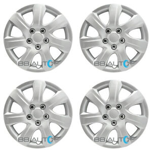 4 New 16 Inch Silver Hubcaps Wheel Covers Set For 2010 2011 Toyota Camry