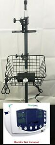 Welch Allyn Vital Signs Monitor Rolling Mobile Stand Spot Lxi 300 42x 45x 53x