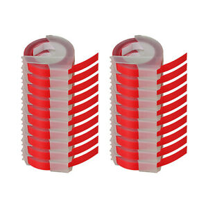 20 White On Red 3d Embossing Tape Label For Dymo 520102 Water Fade Resistant 9mm