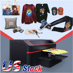 Us Stock Single Station Direct To Garment Printer With 8 Industrial Heads