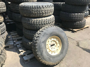 Military Hmmwv Five 5 Goodyear Wrangler Mt 37x12 5r16 5 Lt On 12 Bolt Wheels