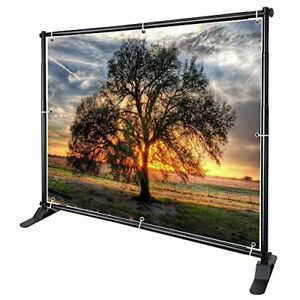 Winspin 10 Telescopic Banner Stand Step And Repeat Adjustable Backdrop Wall