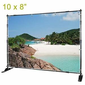 Voilamart Photo Backdrop Banner Stand 10 X 8ft Adjustable Telescopic 8 X 10
