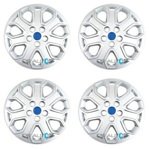 4 New 16 Inch Silver Hubcaps Rim Wheel Covers Set For 2012 2014 Ford Focus