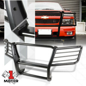 Black Mild Steel Grille Brush Headlight Guard For 04 12 Chevy Colorado Canyon