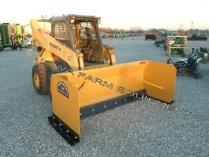 Snow Pusher 10 Skidsteer Quick Attach rubberedge 3 x3 3 75yd Cap low Hour Demo