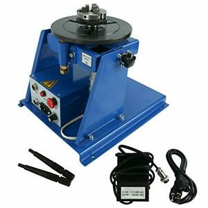 Easy To Use 10kg Rotary Welding Positioner Turntable Table2 5 3 Jaw Lathe Chuck