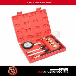 Universal Fuel Injection Gauge Pressure Tester Test Kit Car System Pump Tool Kit