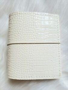 White Croco Planner Pink Pocket Size Chunky 30mm Ring 6 Planner A7 Organizer