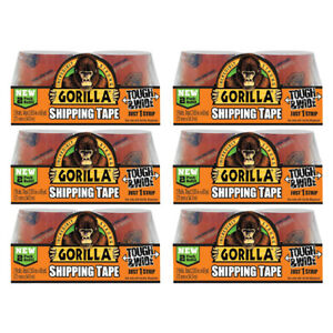 Gorilla Packaging Shipping Tape Clear 2 Refill Rolls Strong 2 83in Wide 6 Packs