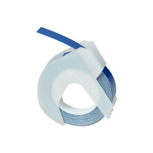 30pk White On Blue 3d Embossing Tape Label For Dymo 520106 Fade Water Resistant