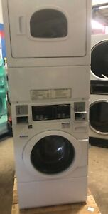 09 Speed Queen Combo Washer gas Dryer Commercial Washer 1ph Huebsch Unimac