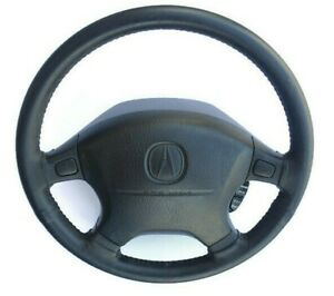 1994 2001 Acura Integra Leather Wrapped Steering Wheel Rare Oem Black