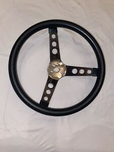 New 1965 1969 Mustang Black Steering Wheel Grant 13 1 2 Only Steering Wheel
