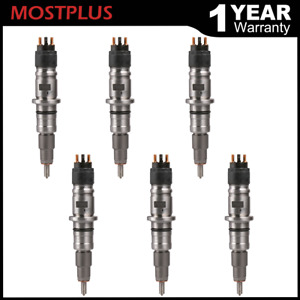 6x Brand New Diesel Fuel Injectors For 07 12 Dodge Ram 2500 3500 Cummins 6 7l