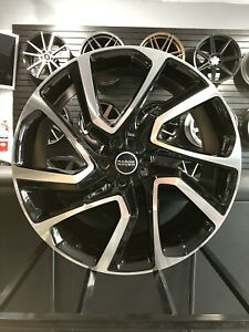 22x9 5 Black Machined Dynamic Style Wheels Range Rover Stormer Autobiography