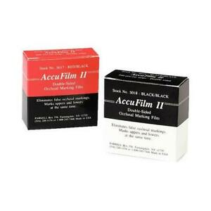 Accufilm Ii Double Sided Articulating Film Black black 280 count