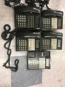 Lot Of 5 Nitsuko Nec Ds1000 Ds2000 22 Button Business Phones 82473
