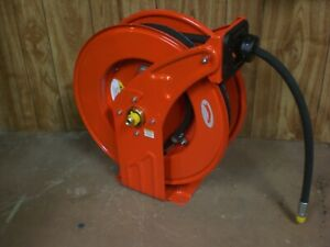 New Heavy duty Retractable Oil Hose Reel 1 2 X 50 Hose 2320 Psi