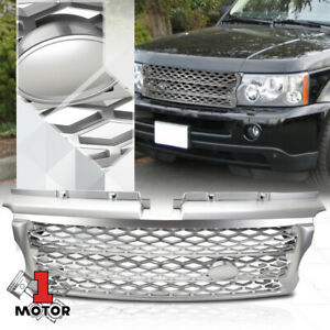 For 2006 2009 Range Rover L320 Autobiography Style Matte Silver Abs Grille Grill