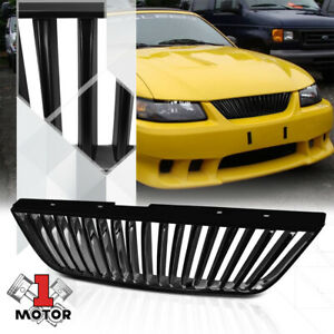 For 1999 2004 Ford Mustang vertical bar matte Black Abs Bumper Grille Vent Grill
