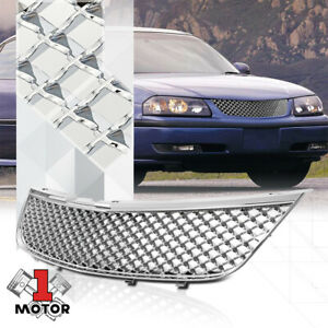 For 2000 2005 Chevy Impala 3d Wave Mesh chrome plastic Bumper Grille Vent Grill