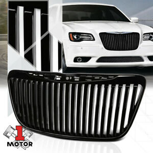 For 2011 2014 Chrysler 300 300c Vertical Bar Black Abs Bumper Grille Vent Grill