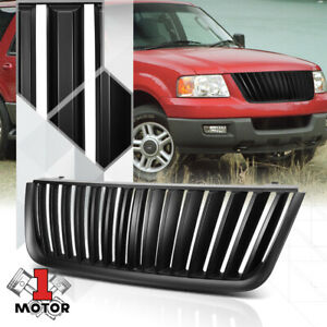 For 2003 2006 Ford Expedition vertical bar matte Black Bumper Grille Vent Grill