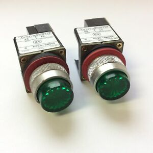 Lot Of 2 Allen Bradley 800mr qb24 Lighted Green Push Button Momentary 24vac dc