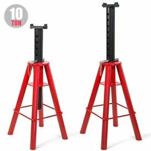 2pcs Jack Stand 10 Tons Capacity High Lift Pin Type Style 18 5 To 30 Inch Red
