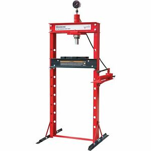 Strongway 20 Ton Hydraulic Shop Press With Gauge