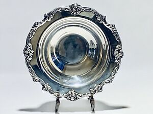 Stunning Vintage Reed Barton Silver Plated Bowl King Francis With Stand