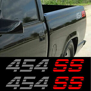 Chevy Pickup 1990 S 454 Ss Decal Stickers Set 2 Chevrolet Silverado Sierra 4x4
