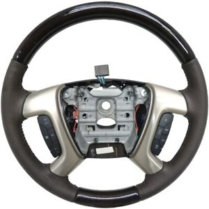 22833218 Steering Wheel Cocoa Leather W wood 2013 16 Buick Enclave Gmc Acadia
