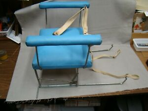 Original Teal Light Blue Vintage Car Seat Auto Child Seat Antique Baby Seat