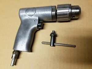 Vintage Pneumatic Air Drill Snap On Chuck Pd3a3 With Key